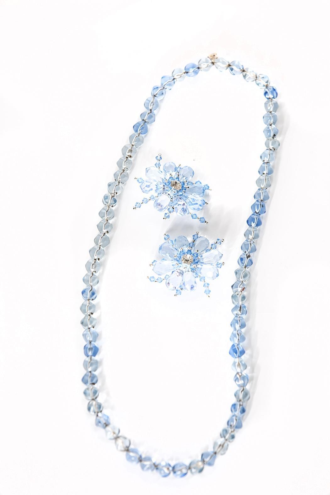Creative Treasures Blue Necklace Set - Main Image