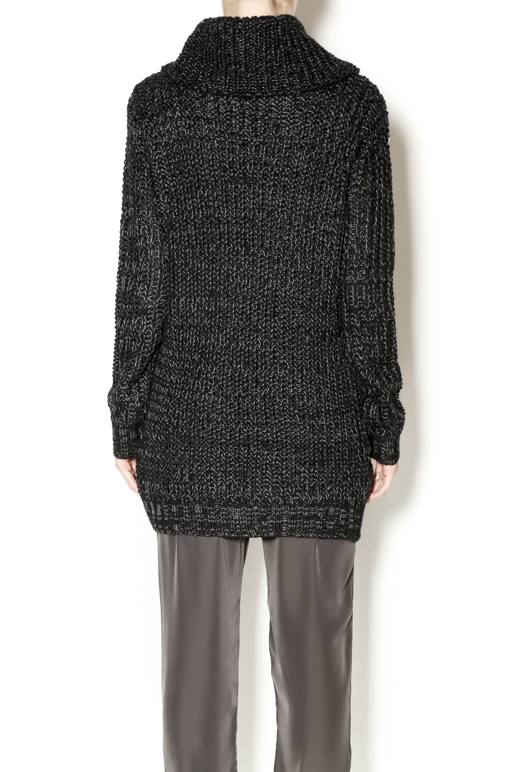 Cecico Long Knit Sweater - Back Cropped Image