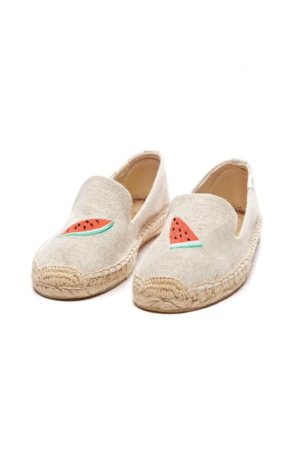 Soludos Woven Watermelon Espadrilles - Front Full Image