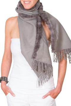 CLAIRE FLORENCE Grey Mink Travel Wrap - Alternate List Image