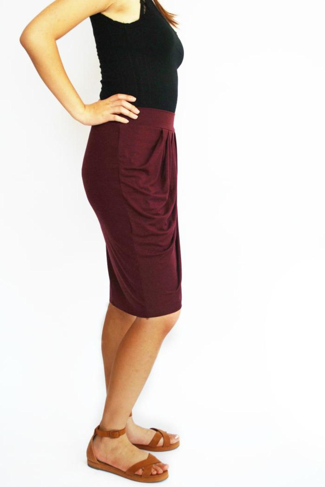 3 dot pleated tulip skirt from portland by folly shoptiques