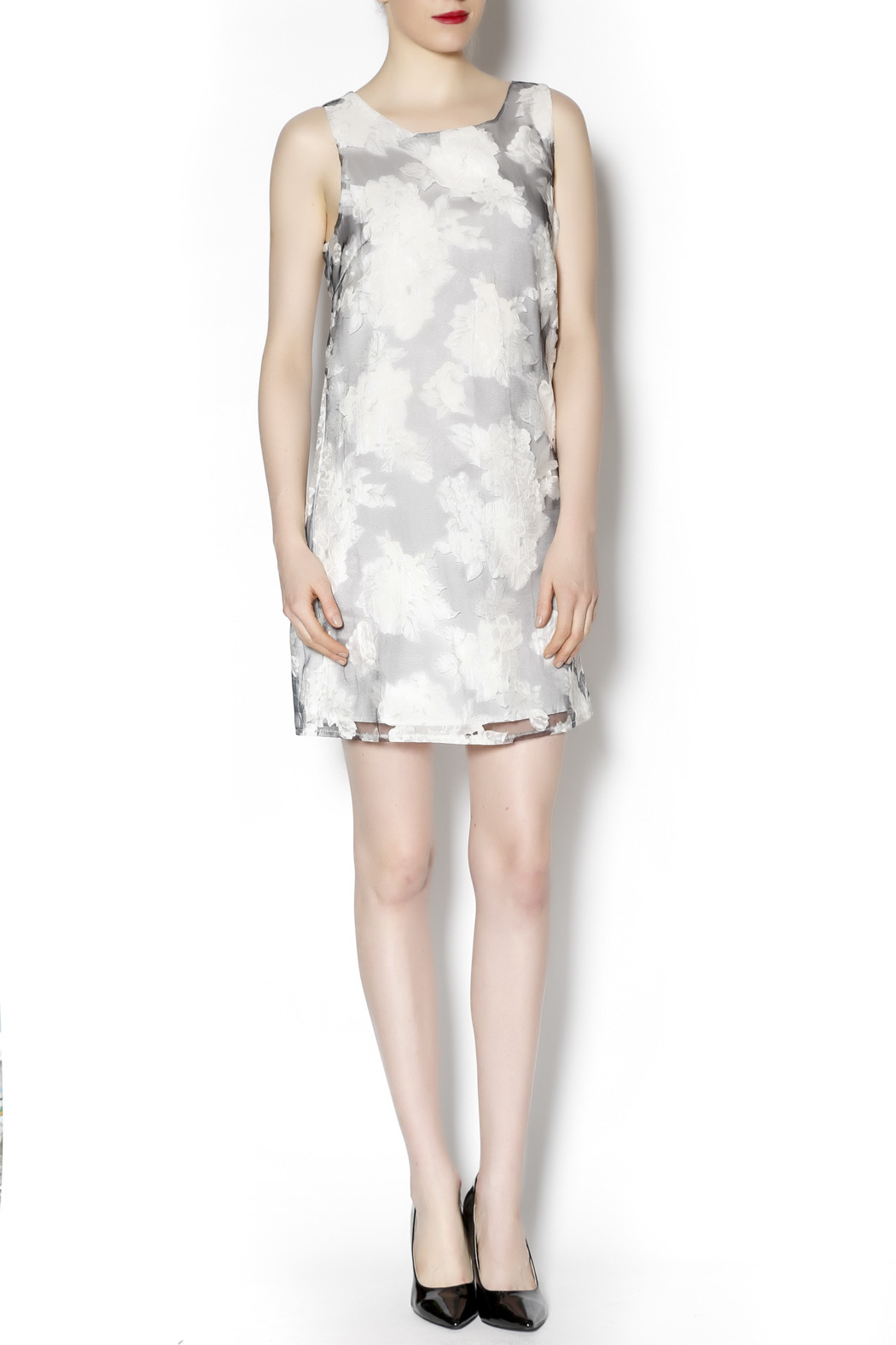 Lucy & Co. sleeveless white dress - Front Full Image