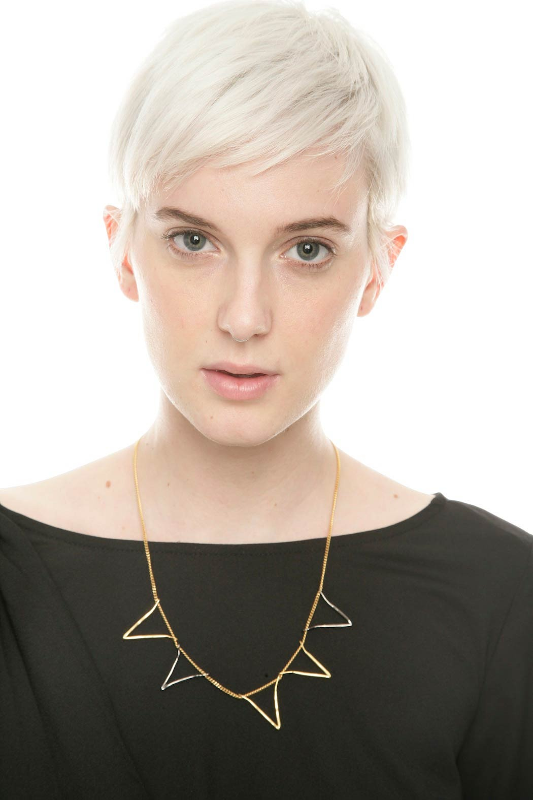 The J Line by Lady J Jewelry Five Valentine Necklace - Front Full Image