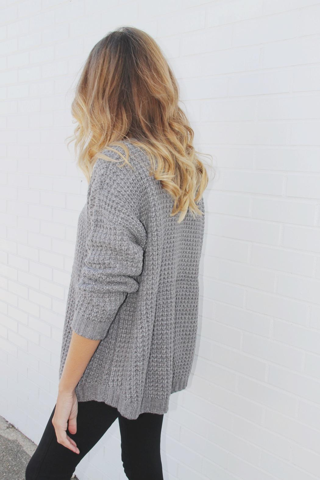 House of Lucky Chunky Boyfriend Sweater - Front Full Image