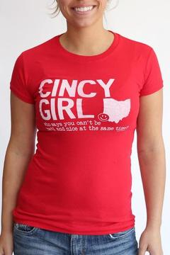 Great to Be Here Tees Cincy Girl Red - Product List Image
