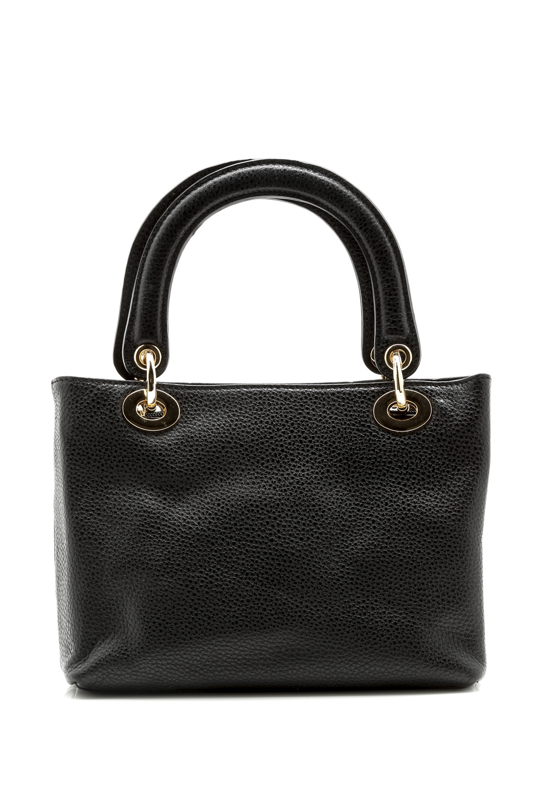 Passports Black Pebble-Leather Bag - Front Cropped Image