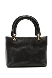 Passports Black Pebble-Leather Bag - Front cropped