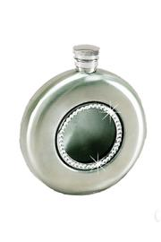 Creative Gifts Brushed Silver Flask - Front cropped