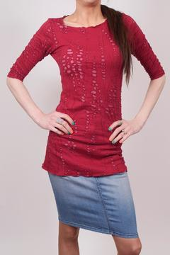 Hard Tail Forever  Distressed Stretch Tunic - Product List Image