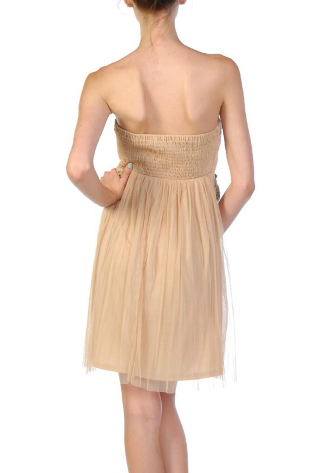 Ryu Strapless Nude Dress - Front Full Image