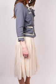 Knitted Dove Bow Pocket Jacket - Front full body