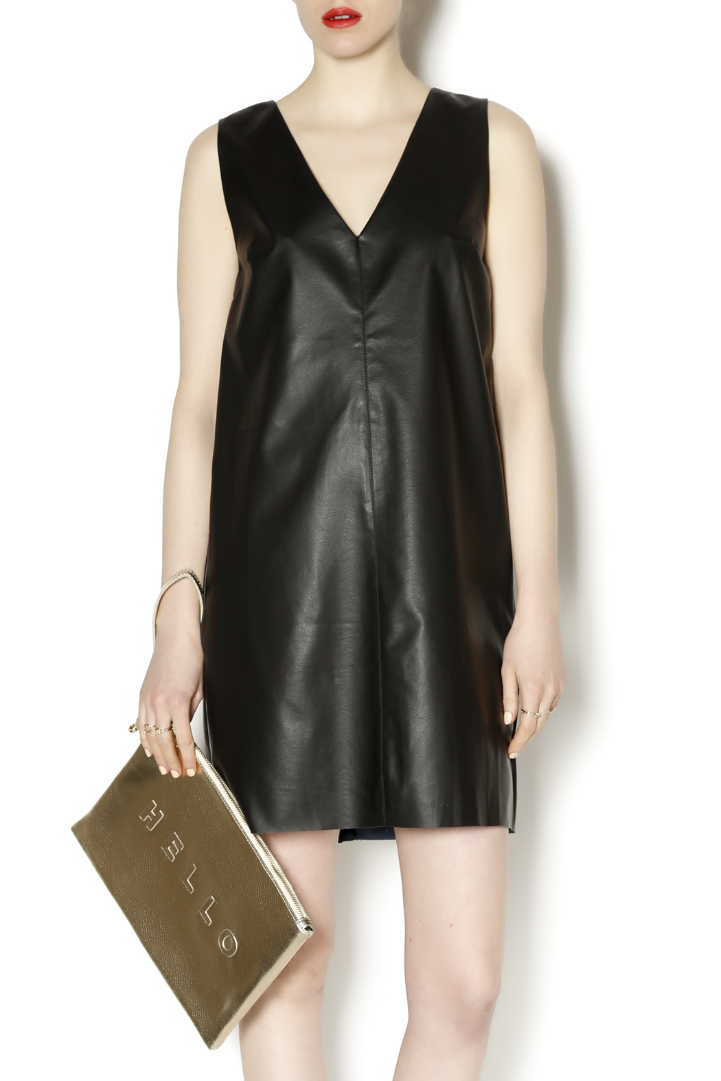 lumiere faux leather dress from wisconsin by the revival shoptiques. Black Bedroom Furniture Sets. Home Design Ideas