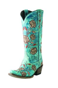 Lucchese Floral Embroidered Boots - Alternate List Image