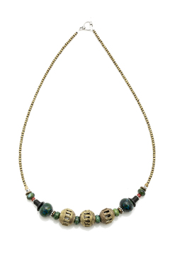 Shoptiques Product: African Brass Gemstone Necklace