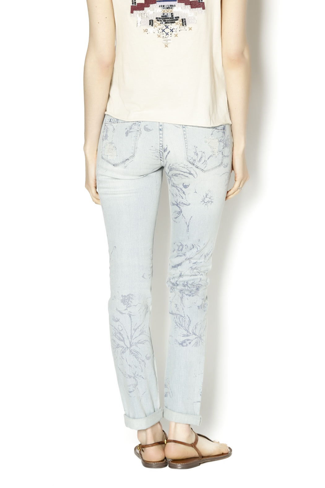 Blank NYC Cigarette Leg Jeans - Back Cropped Image