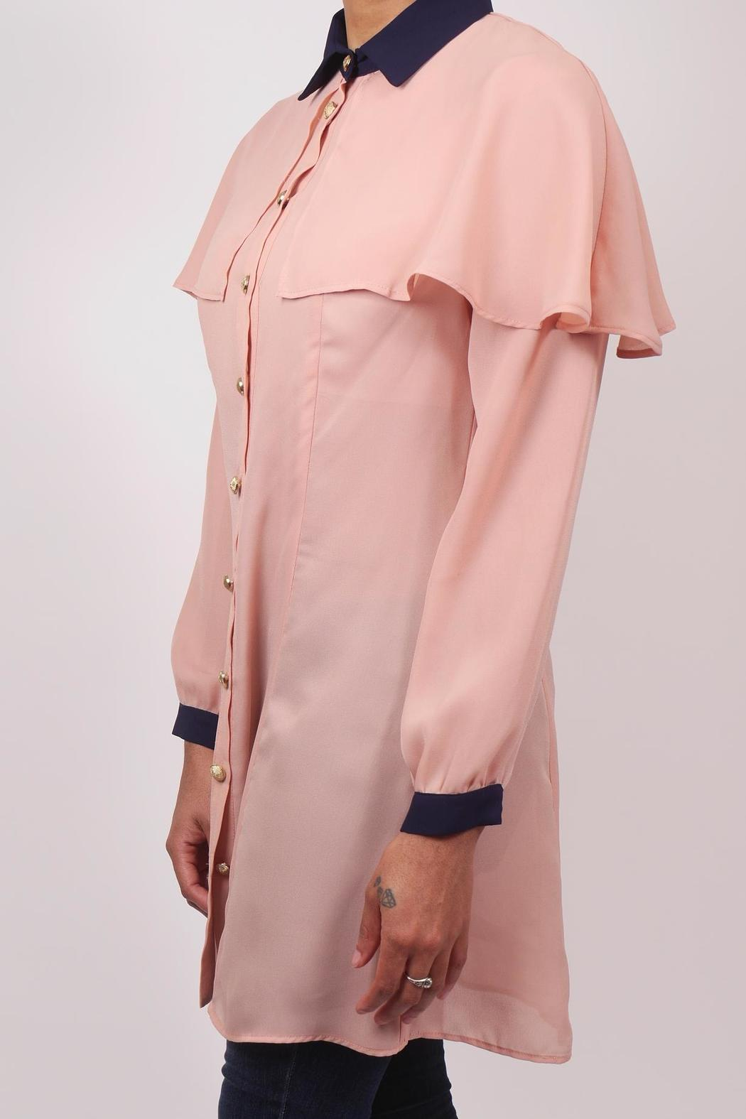 The Cue Blush Chiffon Blouse - Front Full Image