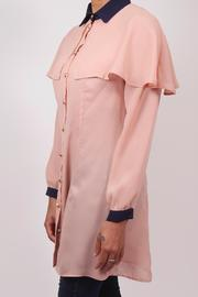 The Cue Blush Chiffon Blouse - Front full body