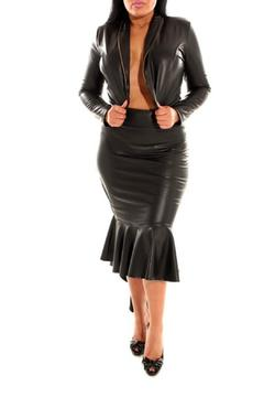 Shoptiques Product: Leather Skirt Set