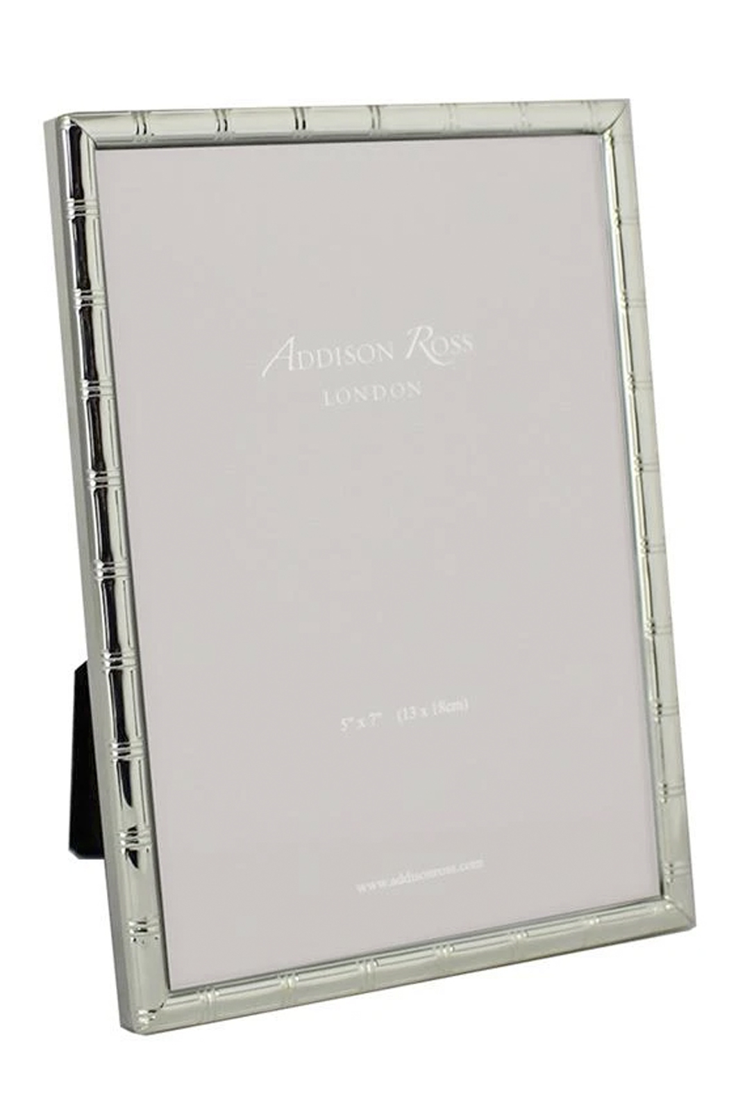 Addison Ross 5x7 Cane Silver Plated Frame - Main Image