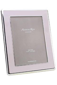 Addison Ross 5x7 Pale Pink Enamel & Silver Curved Frame - Product List Image