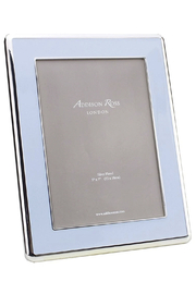 Addison Ross 5x7 Powder Blue Enamel & Silver Curve Frame - Product Mini Image