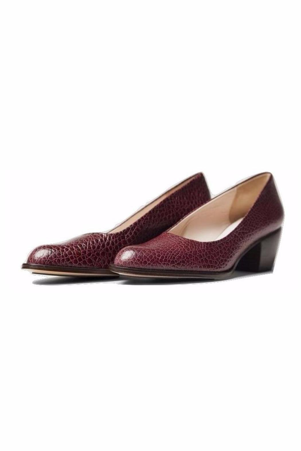 5yMedio Luisa Embossed Leather Pump - Front Full Image