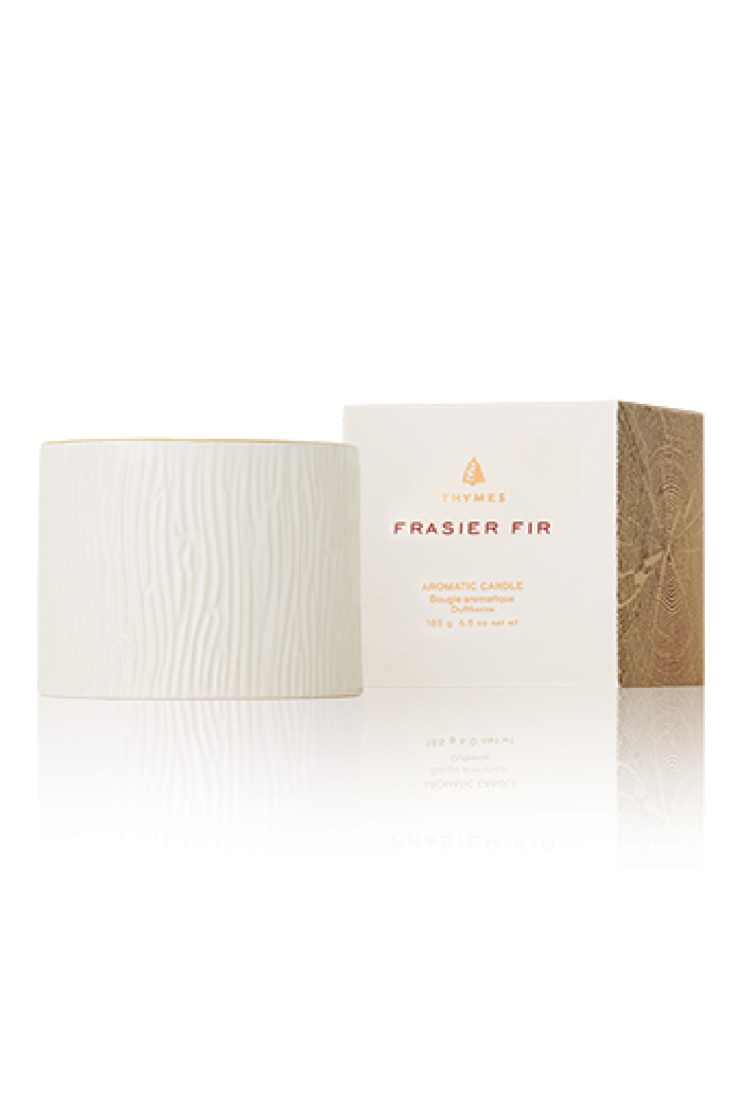 Thymes 6 OZ FRASIER FIR GILDED CERAMIC POURED CANDLE - Main Image