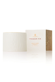 Thymes 6 OZ FRASIER FIR GILDED CERAMIC POURED CANDLE - Front cropped
