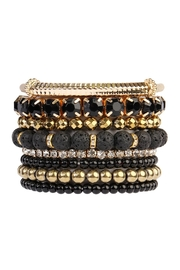 Riah Fashion 6-Pieces Stackable Stretch-Bracelet - Product Mini Image