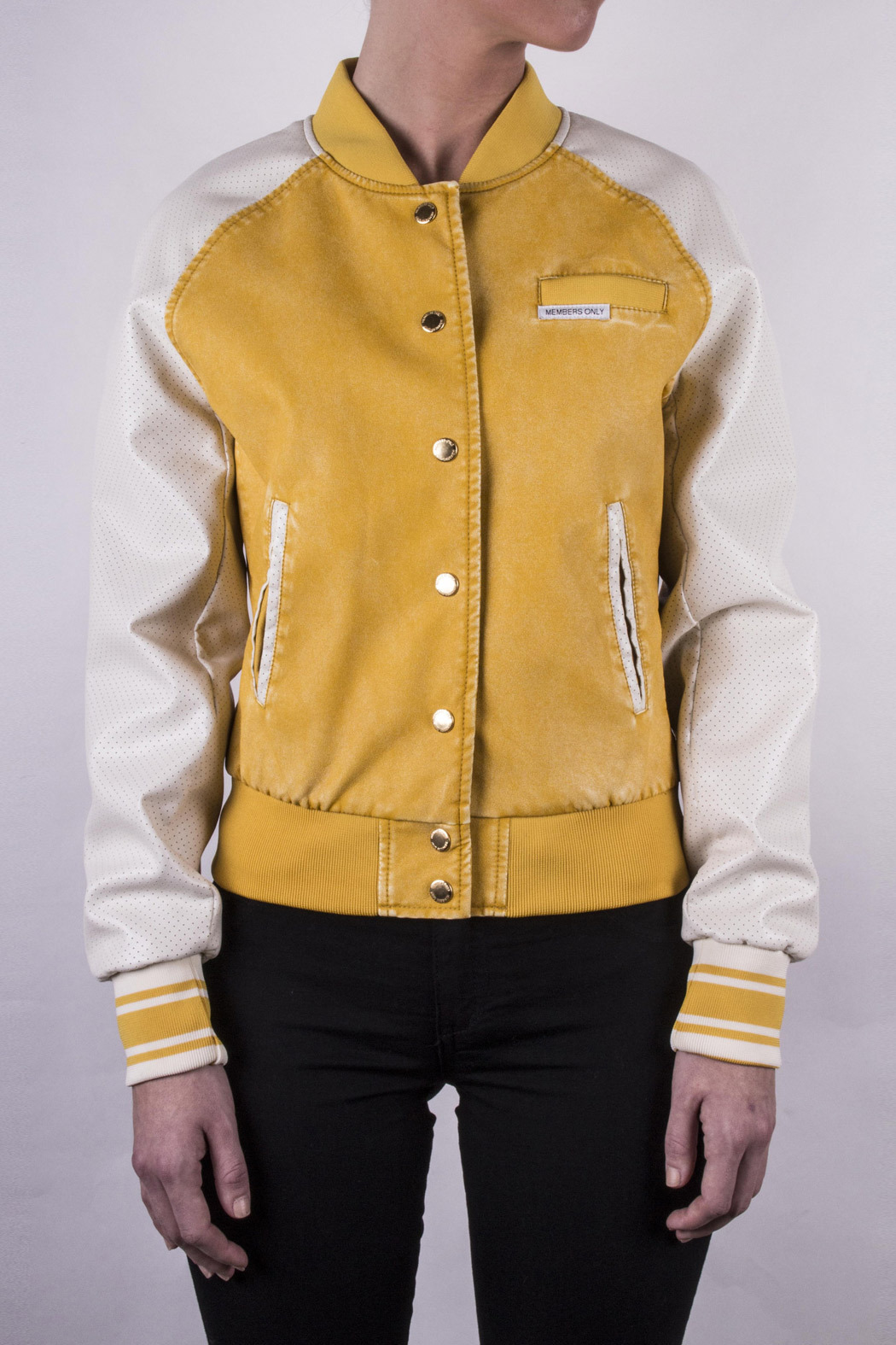 Members Only Washed Varsity Jacket - Front Full Image