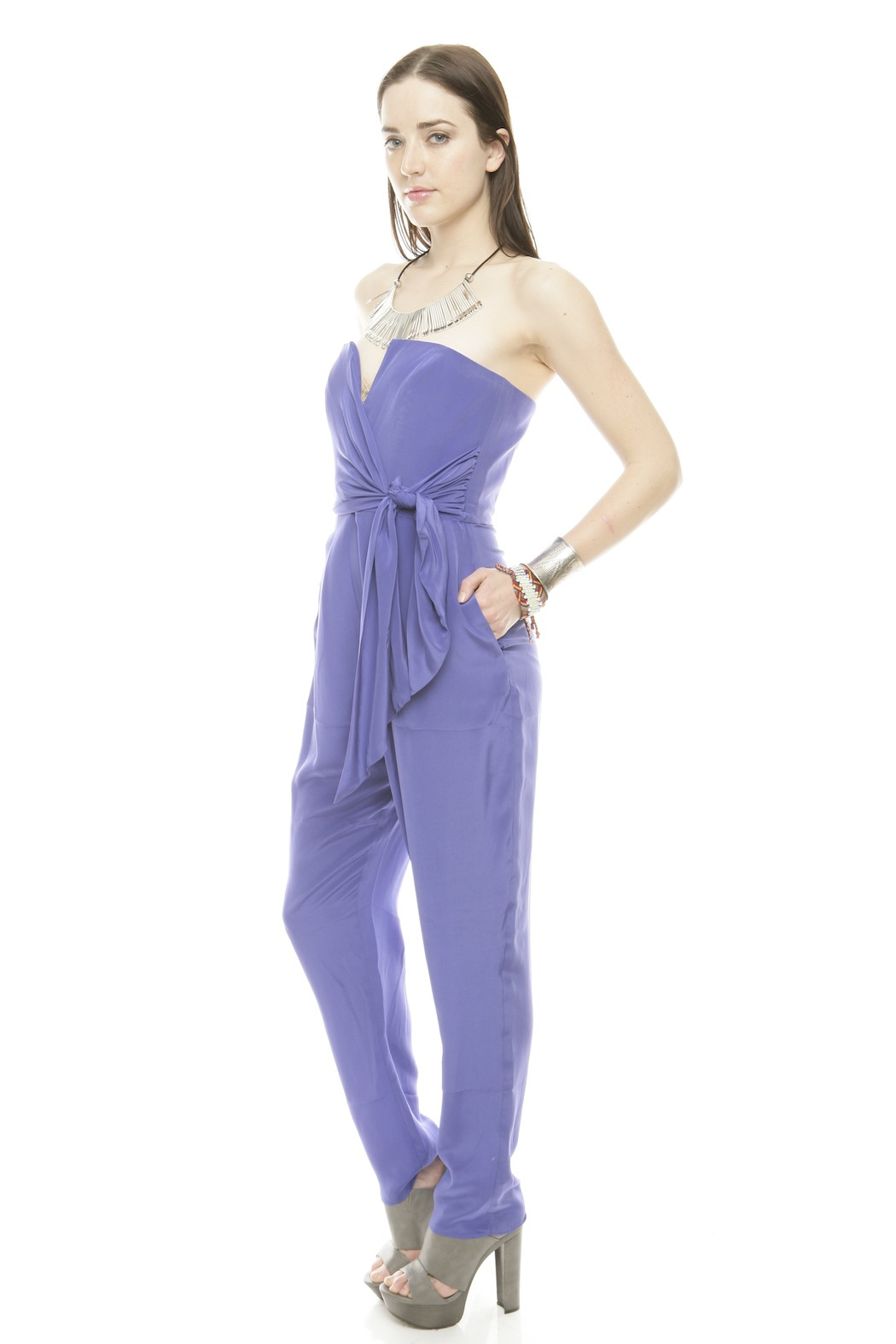 Zimmerman Strapless Prism Jumpsuit - Side Cropped Image