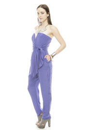 Shoptiques Product: Strapless Prism Jumpsuit - Side cropped