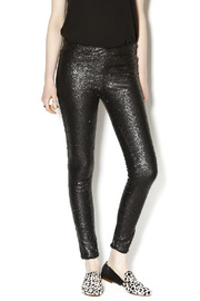 may & july Black Sequin Pants - Product Mini Image