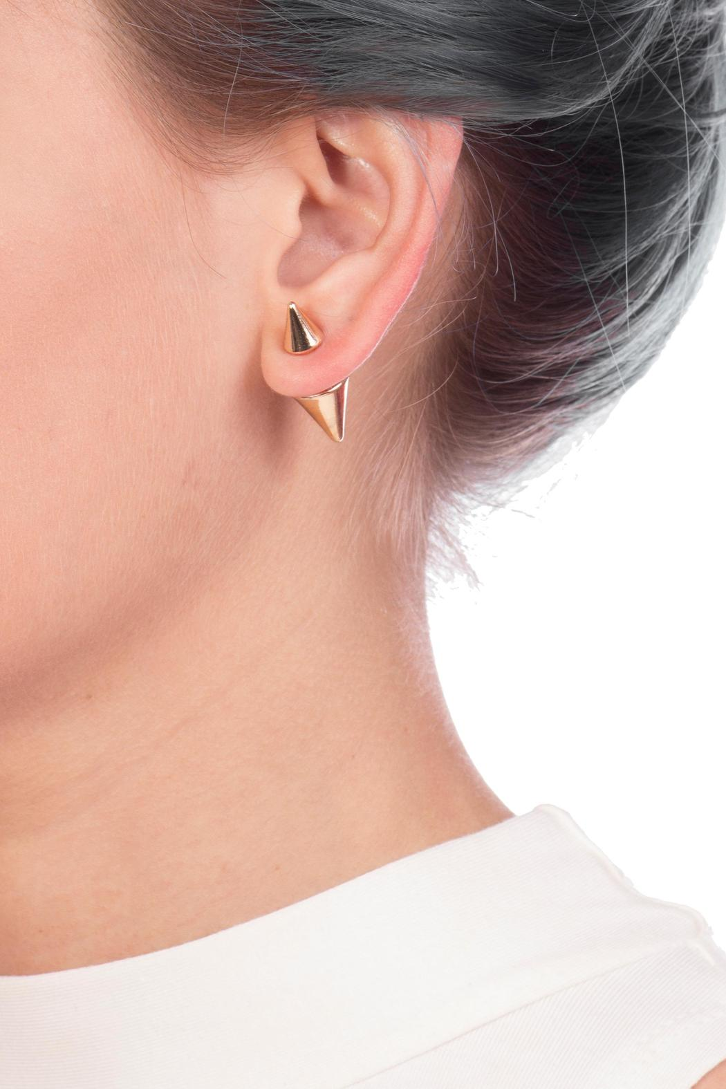 Double Sided Spike Earring Front Full Image