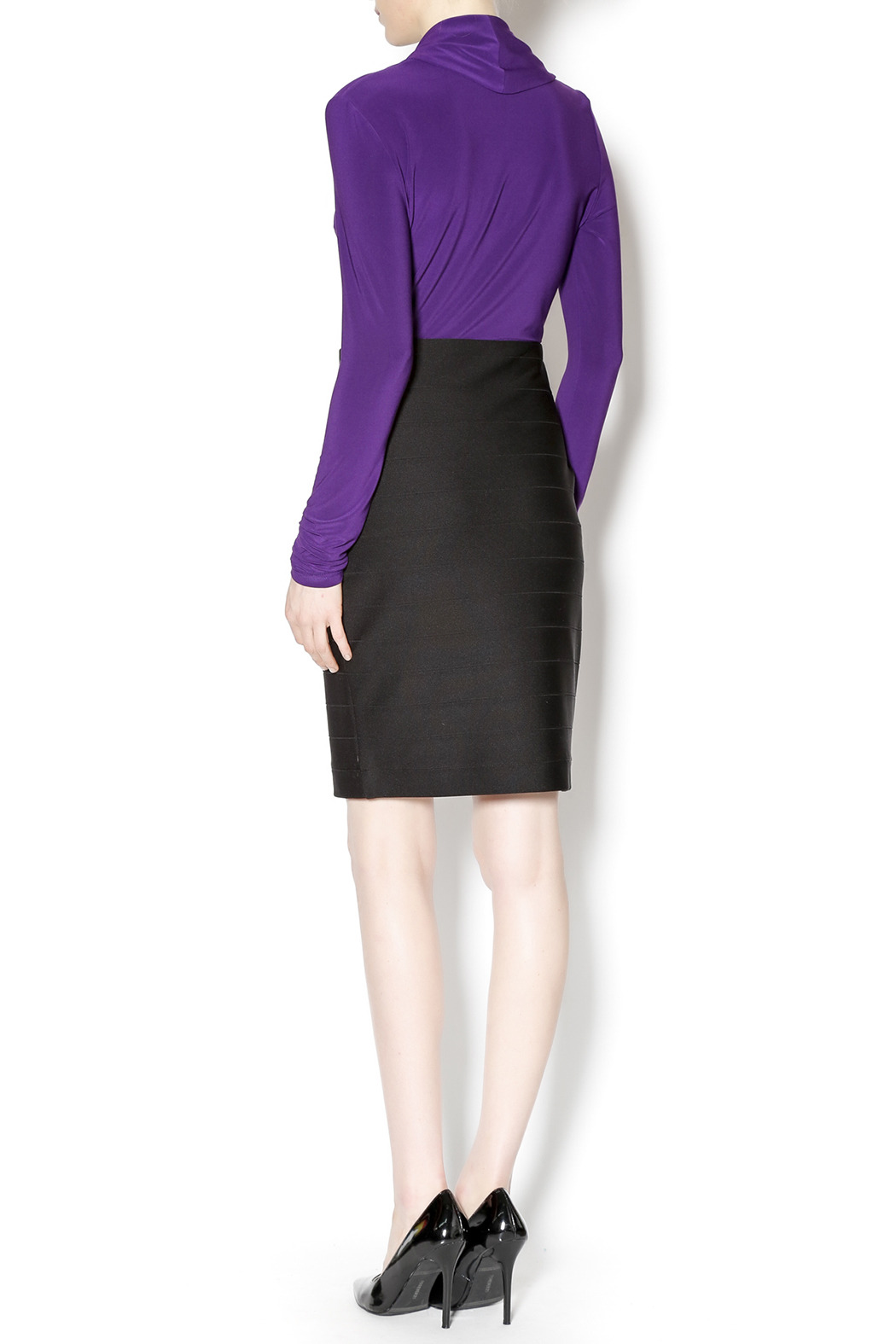 Joseph Ribkoff Bandage Mini Skirt - Side Cropped Image