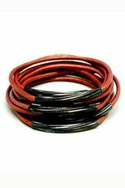 Made It! Gunmetal Leather Bangles - Front cropped