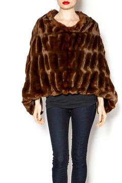 Shoptiques Product: Brown Faux Fur Poncho