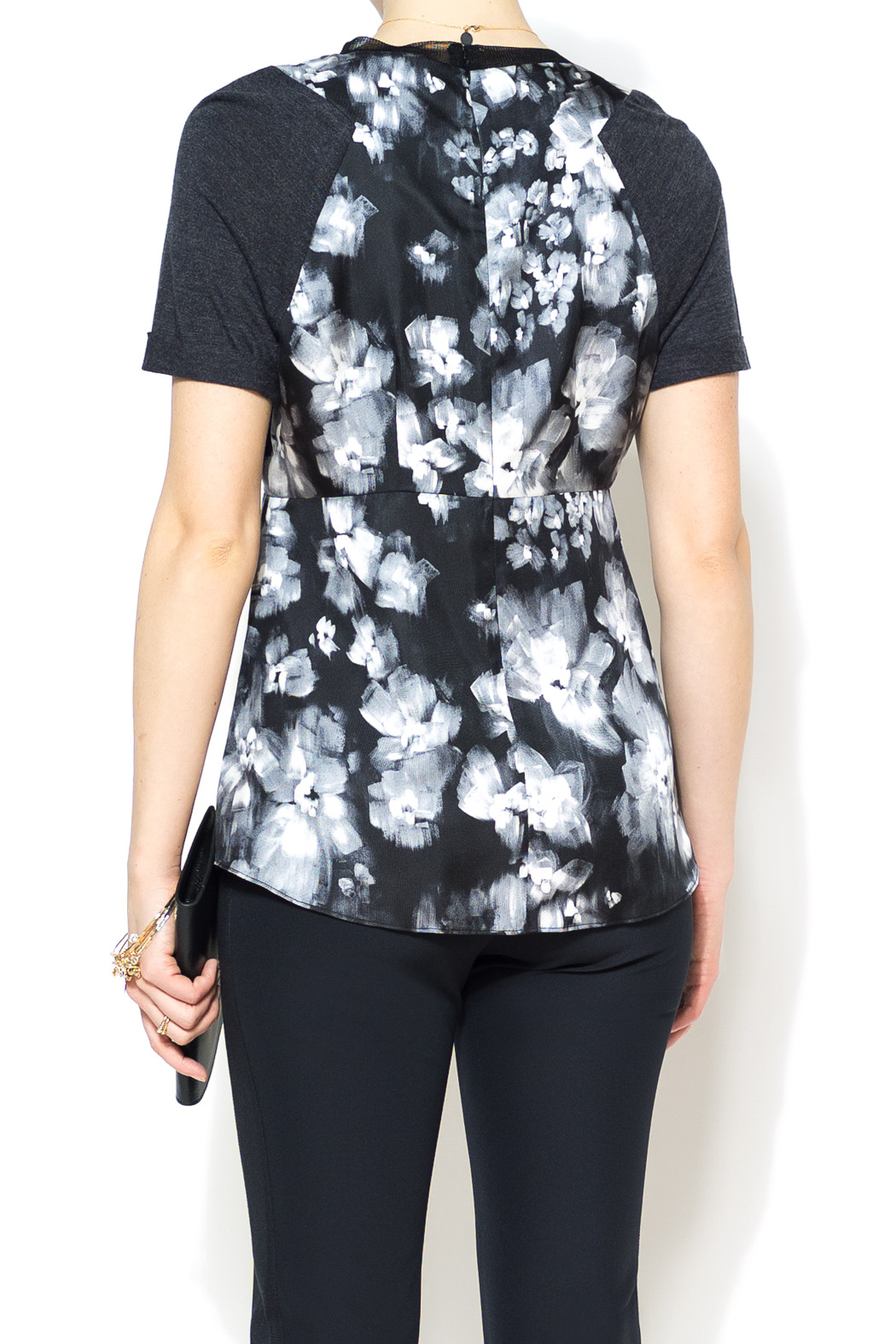 Rebecca Taylor Ghost Flower Top - Back Cropped Image