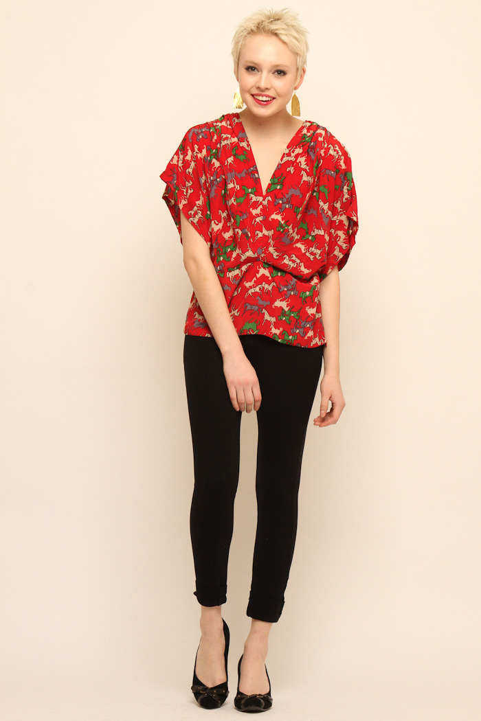 NU Cropped Blouse - Front Full Image