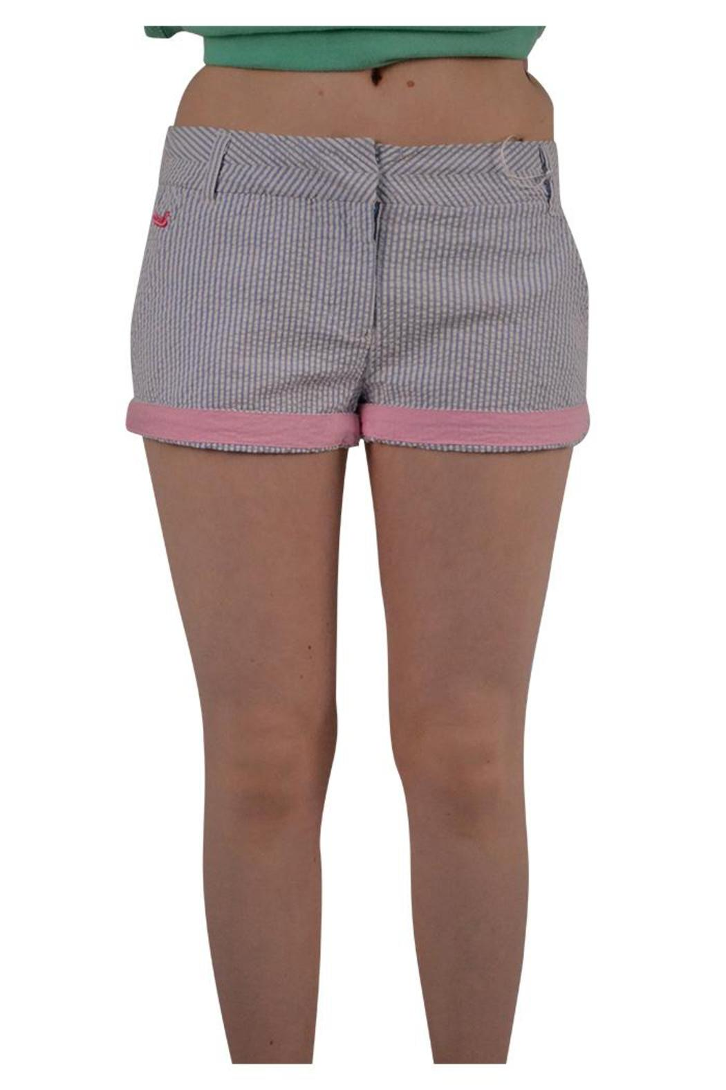 Southern Marsh  Seersucker Chino Shorts - Front Cropped Image