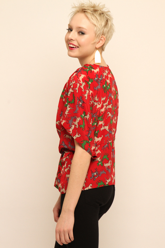 NU Cropped Blouse - Side Cropped Image