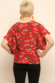 Shoptiques Product: Cropped Blouse - Back cropped