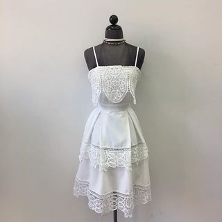 Shoptiques Layered White Dress