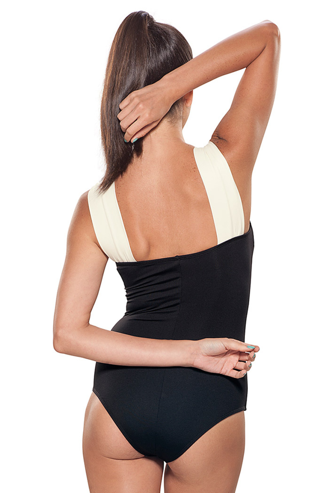 Estivo Black & White Cover Up - Back Cropped Image
