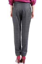Phalaenopsis Pleated Cigarette Trousers - Back cropped