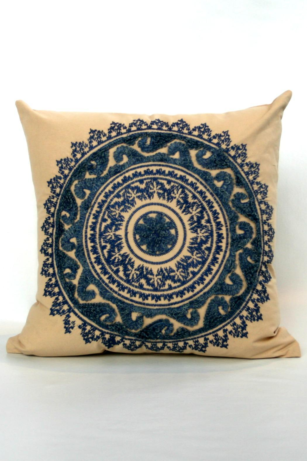 Jaipur Creme Brulee Pillow - Front Cropped Image