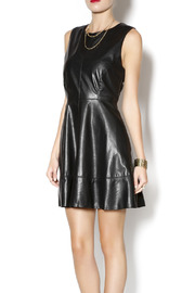 Willow & Clay Faux Leather Dress - Front cropped