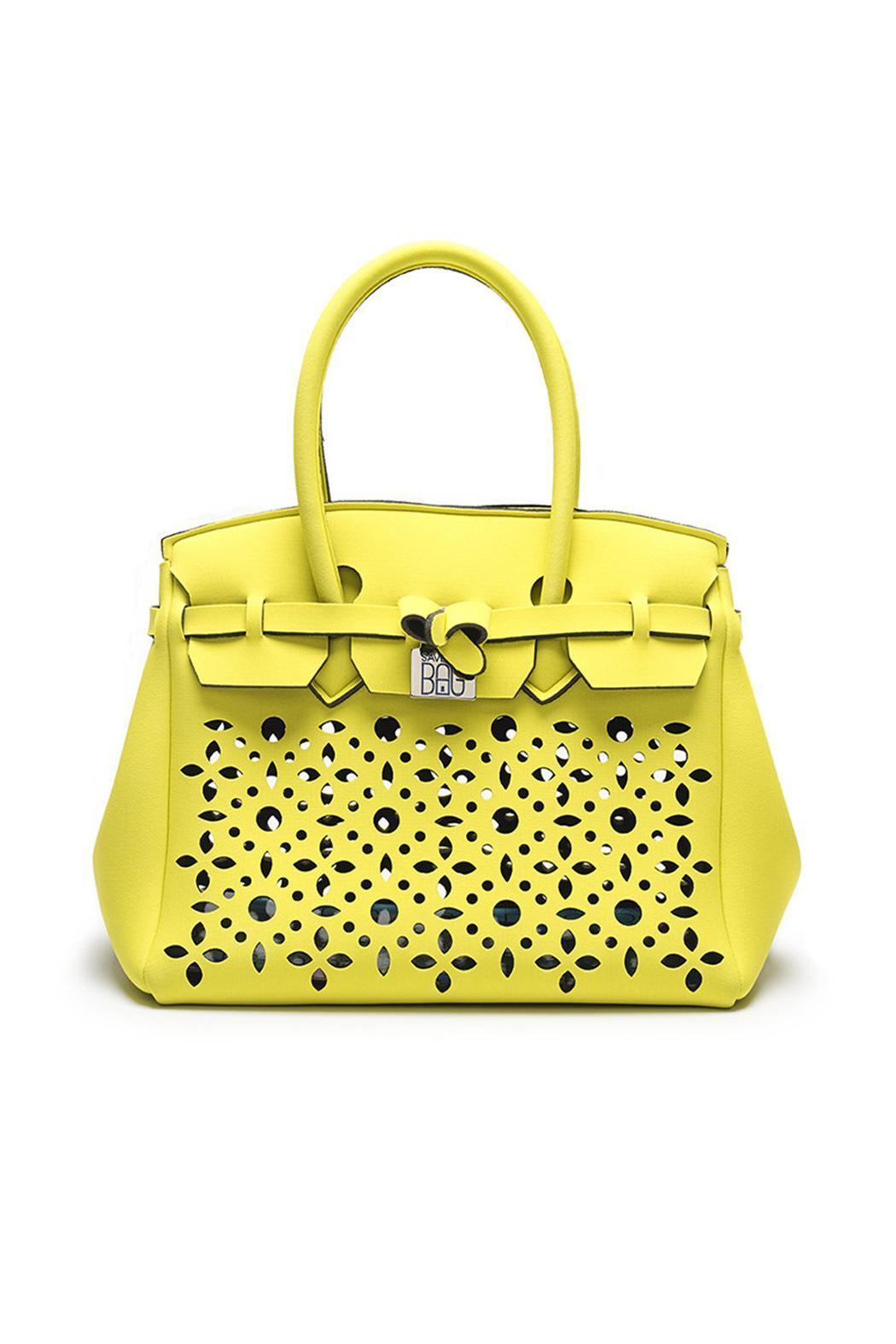 Save My Bag Neoprene Perforated Handbag Front Cropped Image