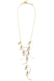ZIA Boutique Gold Waterfall Necklace - Product Mini Image