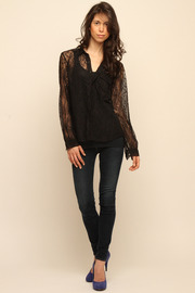 Cuffe Parade Chantlilly Lace Blouse - Front full body